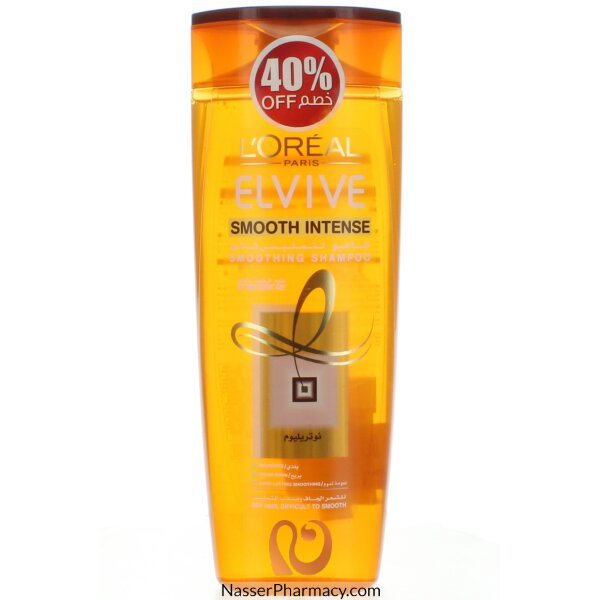 Loreal Elvive Shampoo Smooth-intense Anti-frizz 400 Ml -40% Off