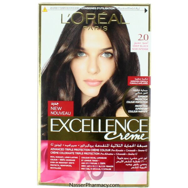 Loreal Excellence Crème 2 Dark Black