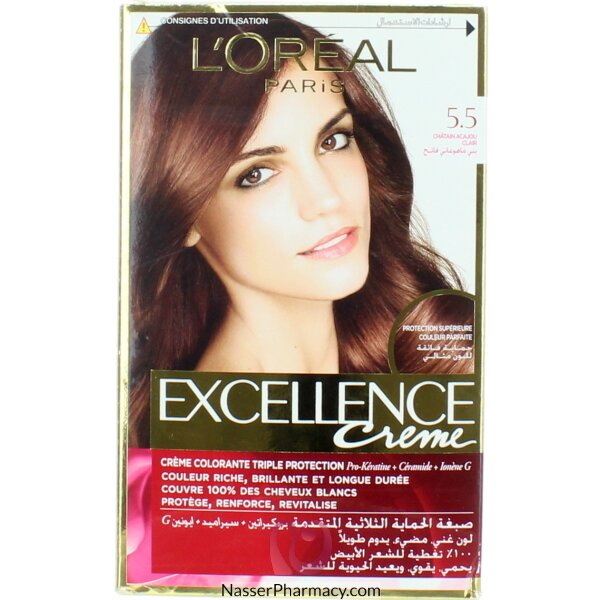 Loreal Excellence Crème 5.5 Mahogany Light Brown