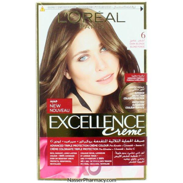 Loreal Excellence Crème 6 Dark Blonde