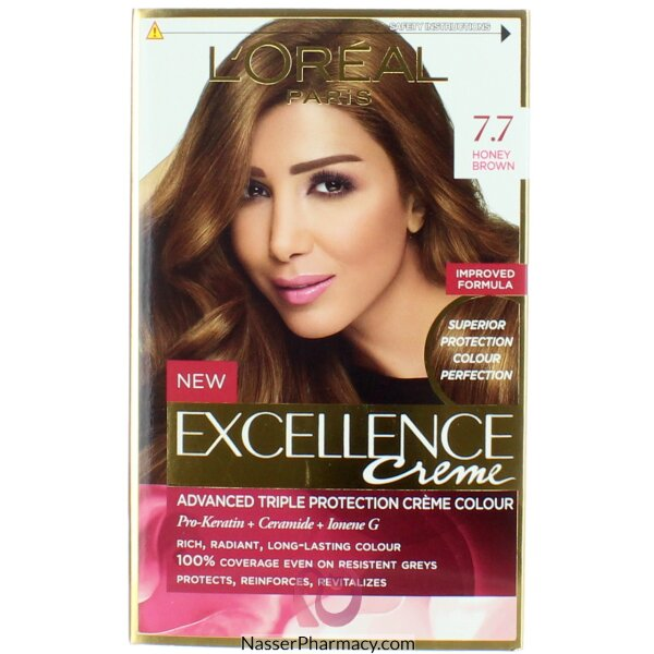 Loreal Excellence Crème 7.7 Honey  Brown