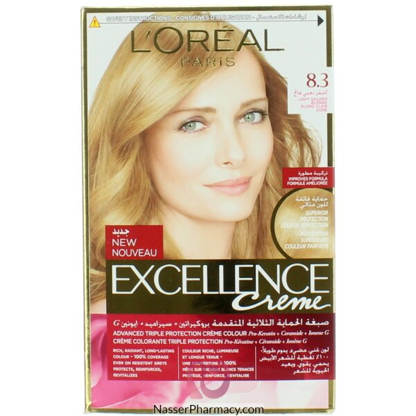 Loreal Excellence Golden Light Blond 8.3