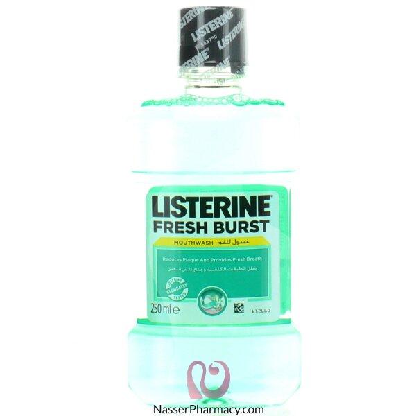 Listerine Fresh Burst Mouthwash For Gingivitis & Periodontitis 250ml