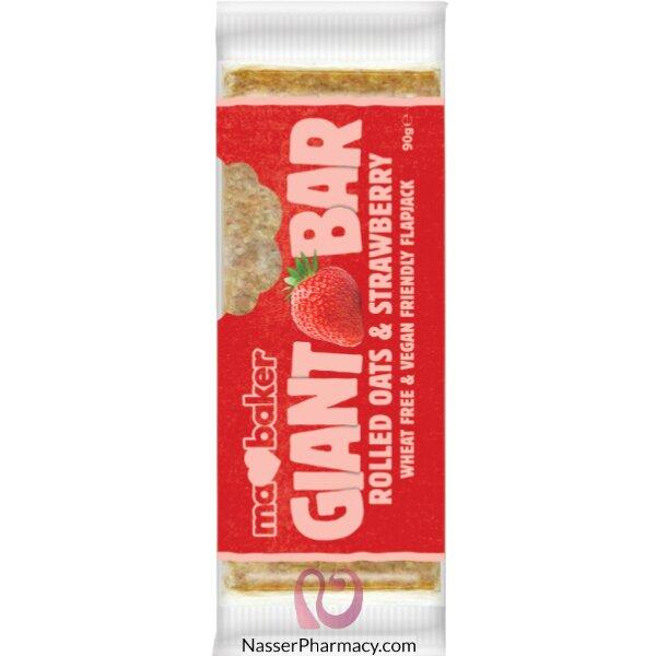 ما بيكر Ma Baker Giant بار لذيذ بالشوفان والفراولة 90 جرام