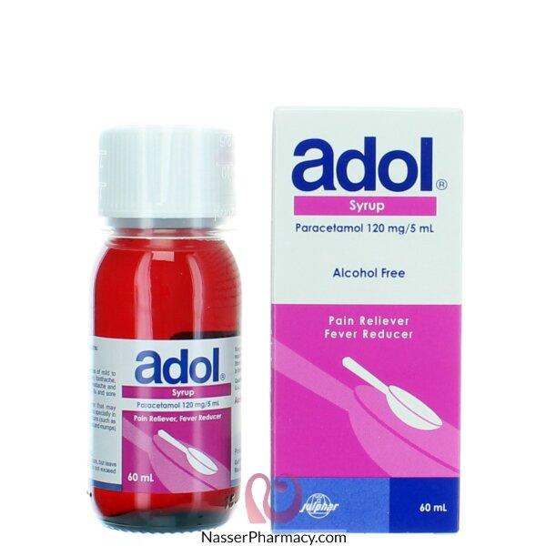 أدول (adol) 120 ملغم شراب 60 مل