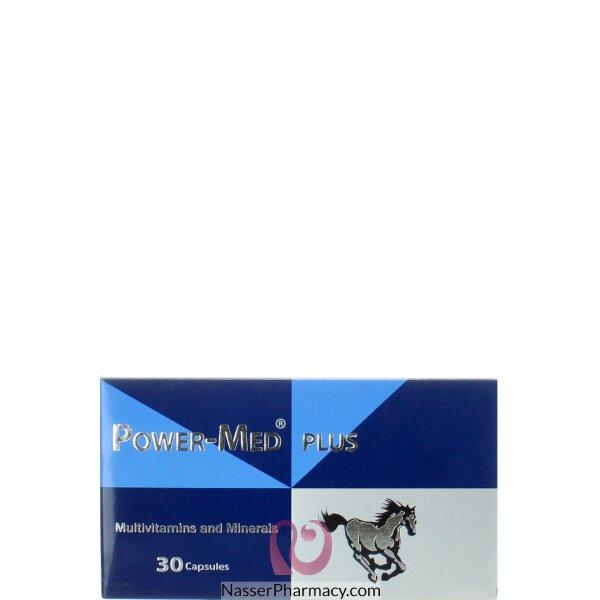باور ميد Power-med فيتامينات متعددة ومعادن، 30 كبسولة