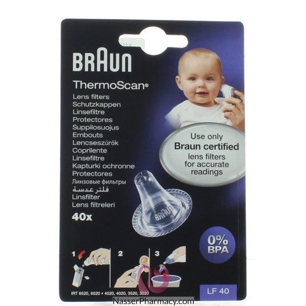 براون ثيرموسكان Braun Thermoscan ( 40 فلتر)