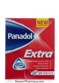 تسوق أونلاين بنادول اكسترا Panadol Extra 24 قرص من صيدليات ناصر البحرين