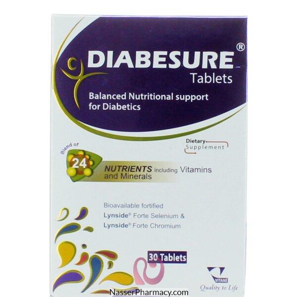 ديابيشور Diabesure أقراص مكملة لمرضى السكري، 30 قرص