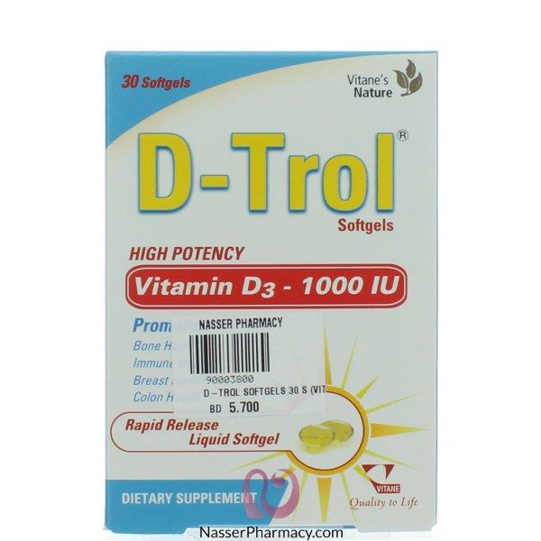 دي- ترول (d-trol) ( ( فيتامين د 1000 وحدة دولية) 30 كابسولة جيلاتينية
