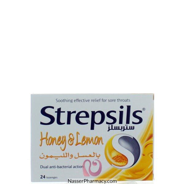 ستريبسيلز Strepsils  بالعسل و الليمون أقراص للمص