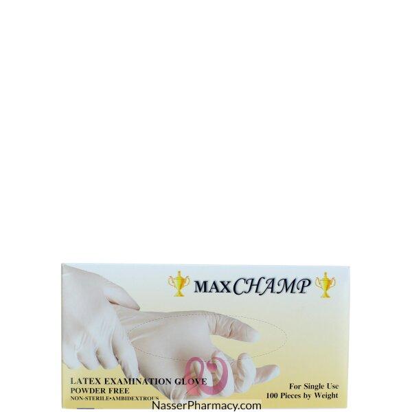 ماكستشامب  Maxchamp قفازات لاتيكس ( صغير)