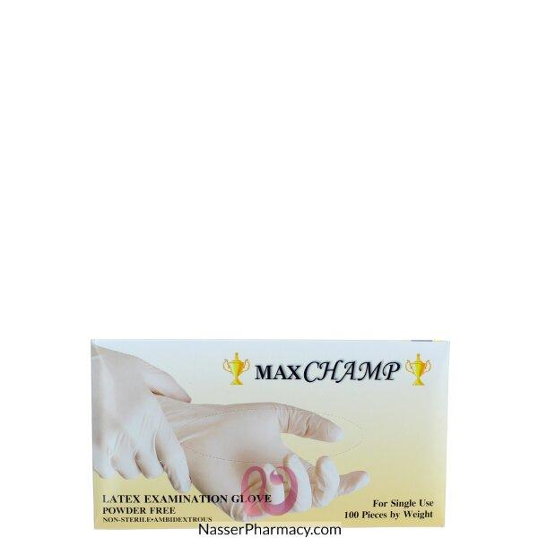 ماكستشامب Maxchamp  قفازات لاتيكس ( كبير)