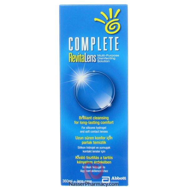 محلول عدسات كومبليت( Complete)  360 مل  Revitalens
