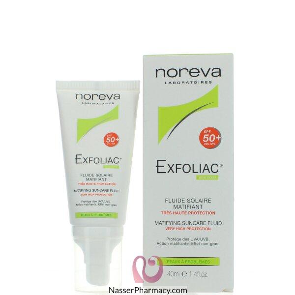 نوريفا Noreva  إكسفولياك سائل واقٍ من الشمس 40 ملل معامل حماية 50
