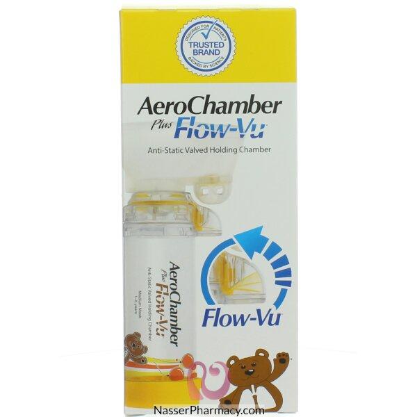 Aerochamber Plus Inhaler Device For Children - Yellow