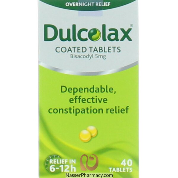 Dulcolax Constipation Relief Laxative Tablets 5mg - 40 Tablets