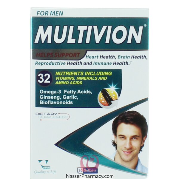 Multivion For Men Softgels 30's