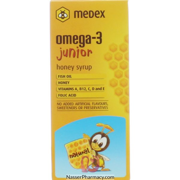 Omega 3 Junior Syr 140ml (medex)