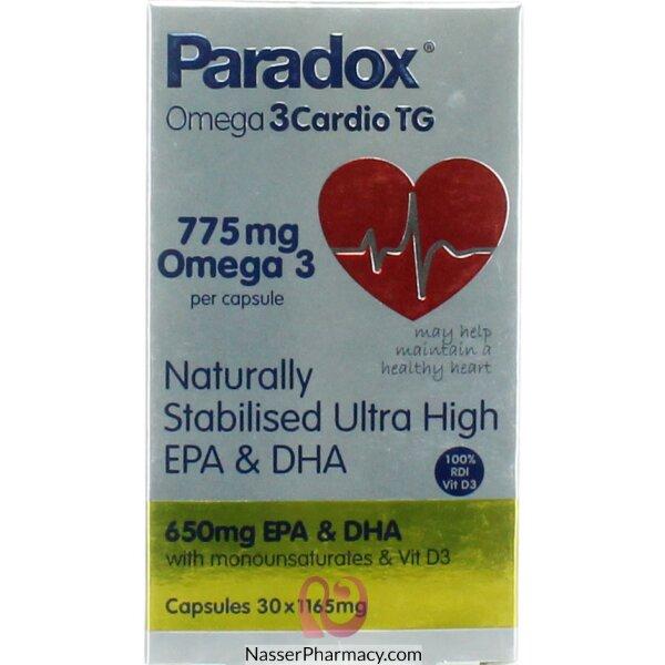 Paradox 3 Cardio Omega Tg Cap 30's