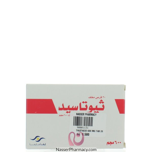 Thiotacid 600 Mg Tab 20 S