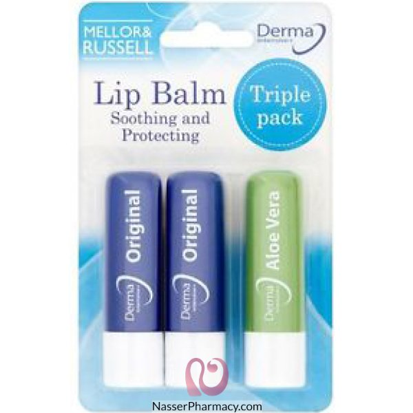 Derma Intensive Lip Balm 3 Pcs -65491