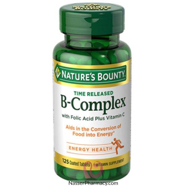 ناتشرز باونتى Nature's Bounty   فيتامين ب مركب ,125 قرص مغلف