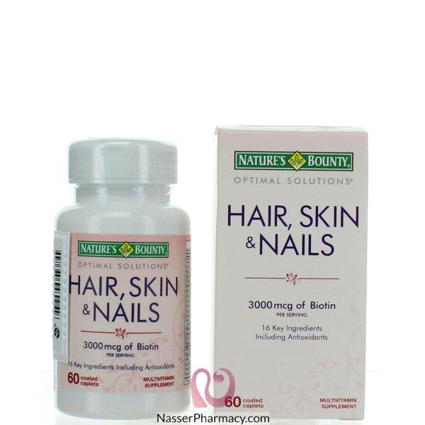 ناتشرز باونتى Nature's Bounty  أقراص للبشرة ، الشعر والأظافر - 60 قرص