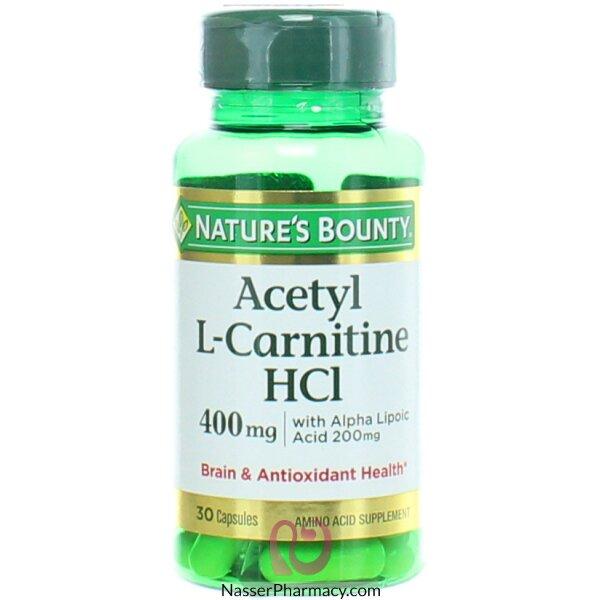 ناتشرز باونتي Nature's Bounty  أسيتيل L-كارنيتين Hci، 400 ملل جرام، 30 كبسولة مغلفة