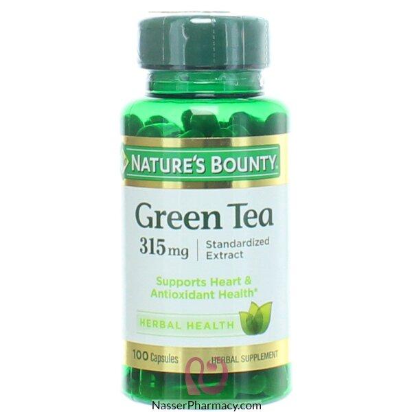ناتشرز باونتي Nature's Bounty   أقراص شاي أخضر 315 مجم - 100 كبسولة