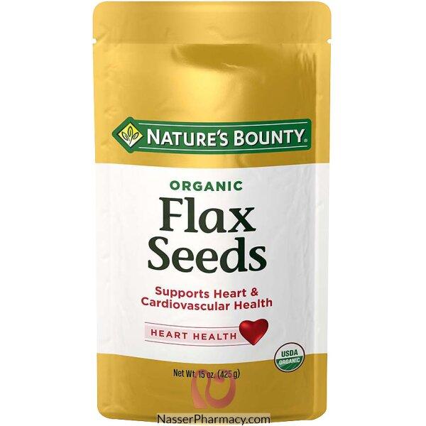 ناتشرز باونتي Nature's Bounty  بذرة الكتان العضوية، 15 أونصة (425 جم)