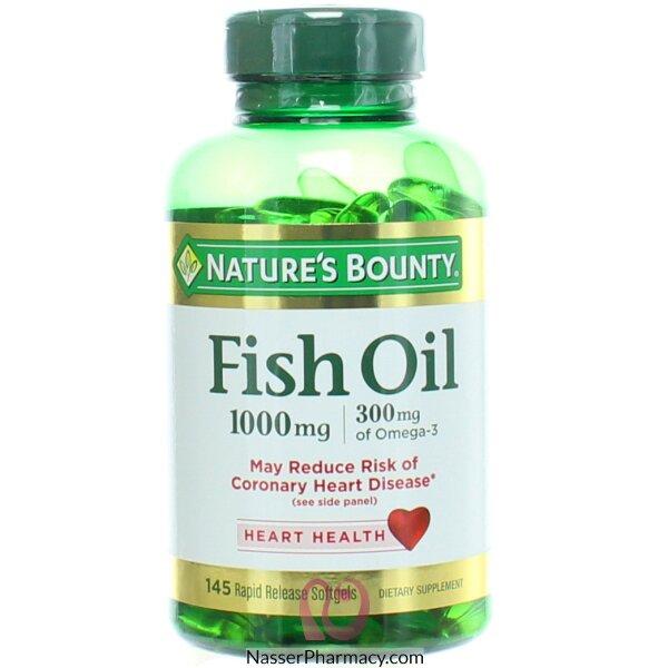 ناتشرز باونتي Nature's Bounty  زيت السمك، 1000 مايكرو جرام، 145 أقراص جل لينة سريعة المفعول
