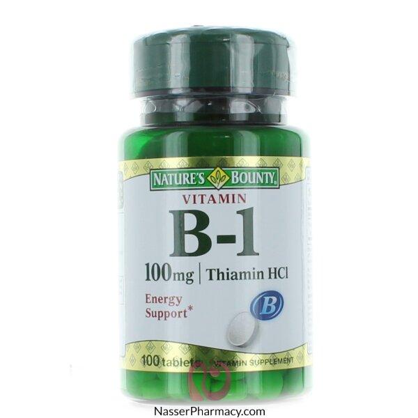 ناتشرز باونتي  Nature's Bounty  فيتامين ب1  -  100مجم - 100قرص