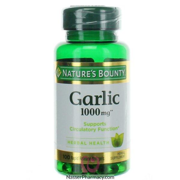 ناتشرز باونتي  Nature's Bounty مكمل غذائي ثوم بدون رائحة لصحة القلب - 100قرص