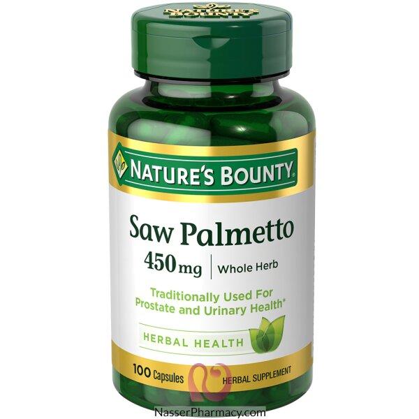 ناتشرز باونتي Nature's Bounty Saw Palmetto  مكمل غذائي للرجال 450 مجم - 100 كبسولة