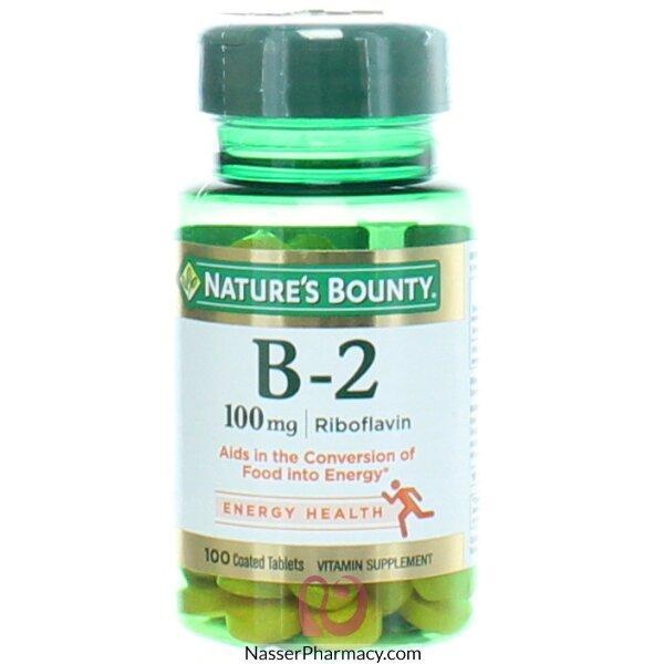 ناتشرز باونتي  Nature's Bounty فيتامين ب2 100 مجم - 100قرص