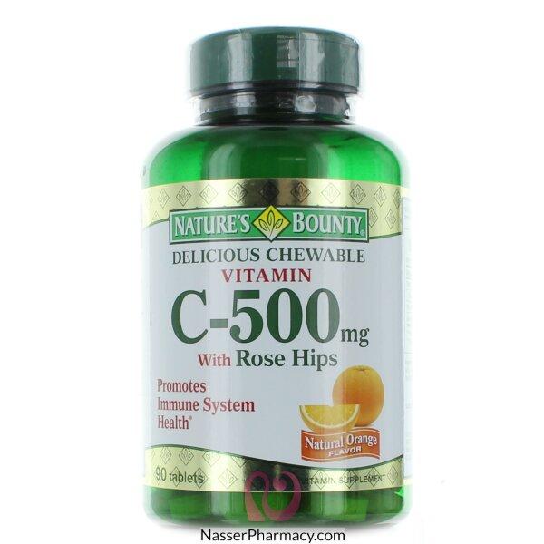 ناتشرز باونتي Nature's Bounty  فيتامين سي 500مجم مع وردة المسك - 90 قرص