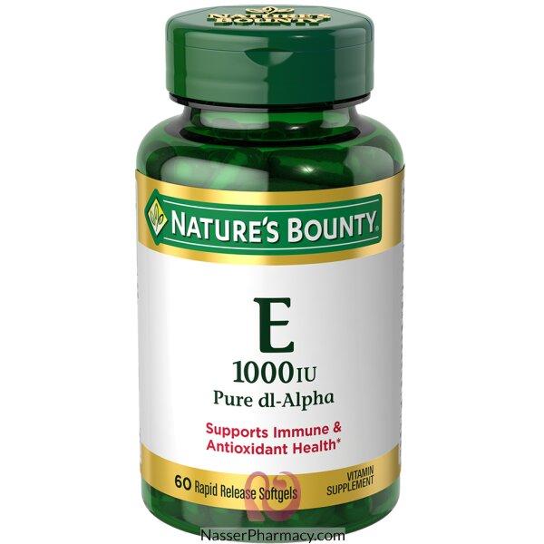 ناتشرز باونتي Nature's Bounty فيتامين E ألفا - 60 كبسولة