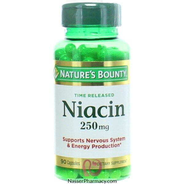 نايتشرز باونتي Nature's Bounty نياسين، 250 ملل جرام، 90 كبسولة إصدار وقتي