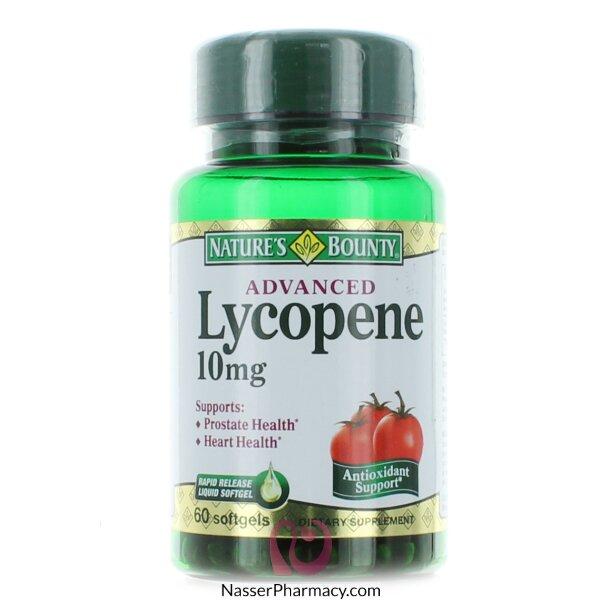 Nature&#39s Bounty Advanced Lycopene 10 Mg - 60 Softgels
