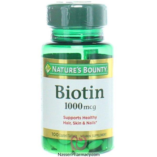 Nature's Bounty  Biotin, 1000 Mcg, 100 Coated Tablets