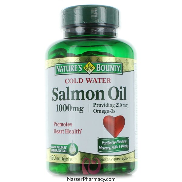 Nature's Bounty Cold Water Salmon Oil 1000 Mg -120 Softgels