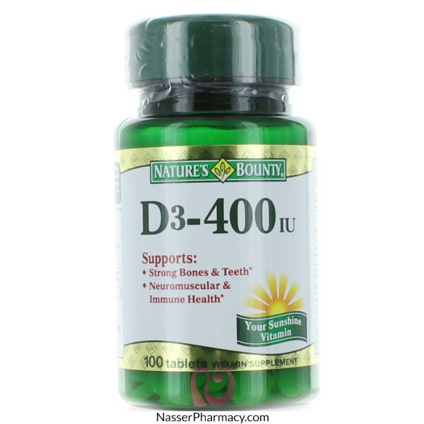 Nature's Bounty D3 400 Iu - 100 Tablets