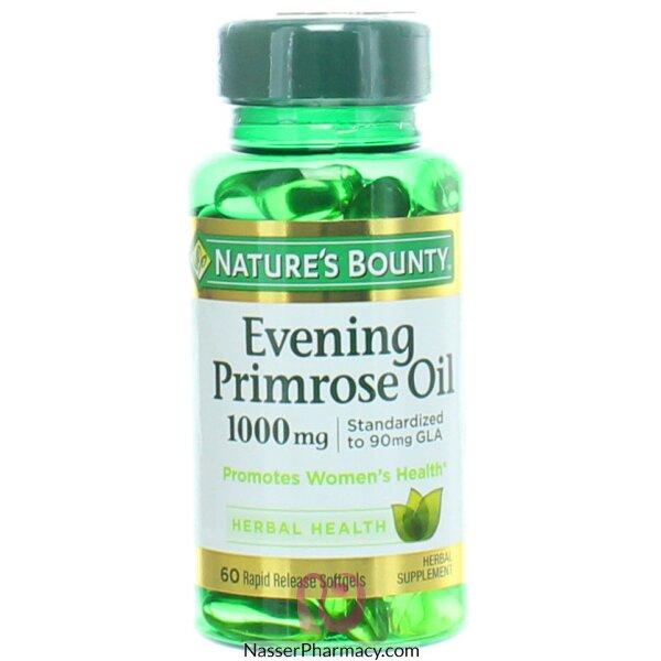 Nature's Bounty Evening Primrose Oil 1000mg - 60 Softgels