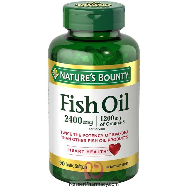 Nature's Bounty  Fish Oil 2,400 Mg Per Serving , 90  Coated Soft Gels