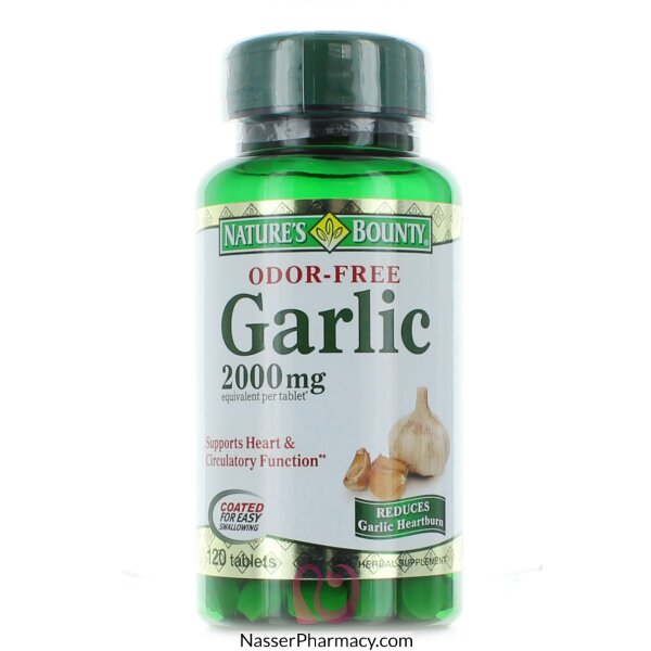 Nature's Bounty Garlic  Odor-free 2000 Mg-120 Tablets