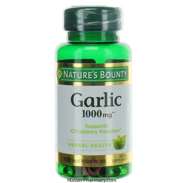 Nature's Bounty Garlic Odour-free 1000 Mg-100 Tablets
