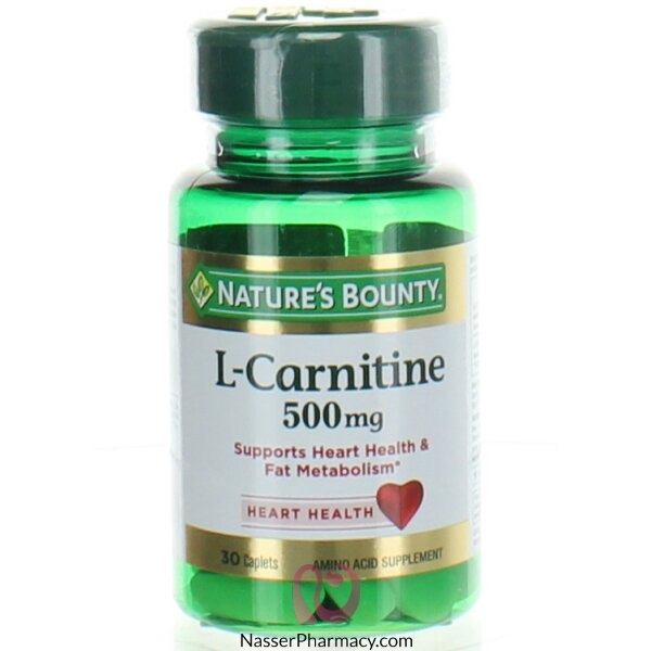 Nature&#39s Bounty L-carnitine 500mg 30&#39s