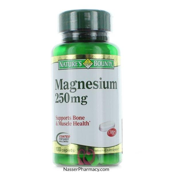 Nature's Bounty Magnesium 250 Mg -100 Coated Caplets