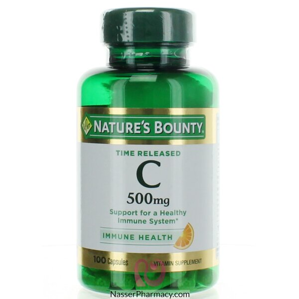 Nature's Bounty, Time Released Pure Vitamin C, 500 Mg, 100 Capsules
